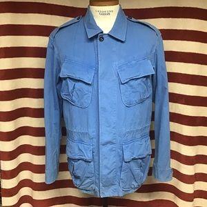 EUC Polo blue military jacket sz L